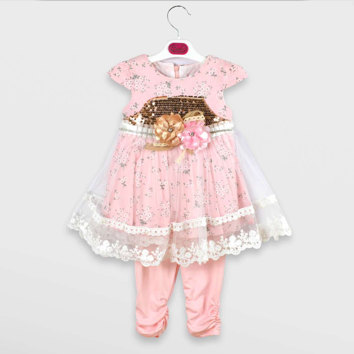 Fancy Frock Flowers with Tight-Baby Pink